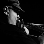Roy Agee playing trombone