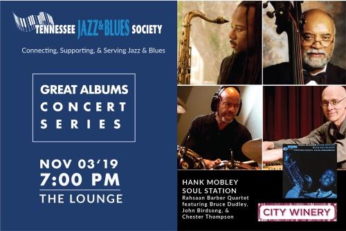 """TJBS Great Albums Concert: Hank Mobley """"Soul Station"""""""