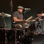 Ferrek Phillips playing drums