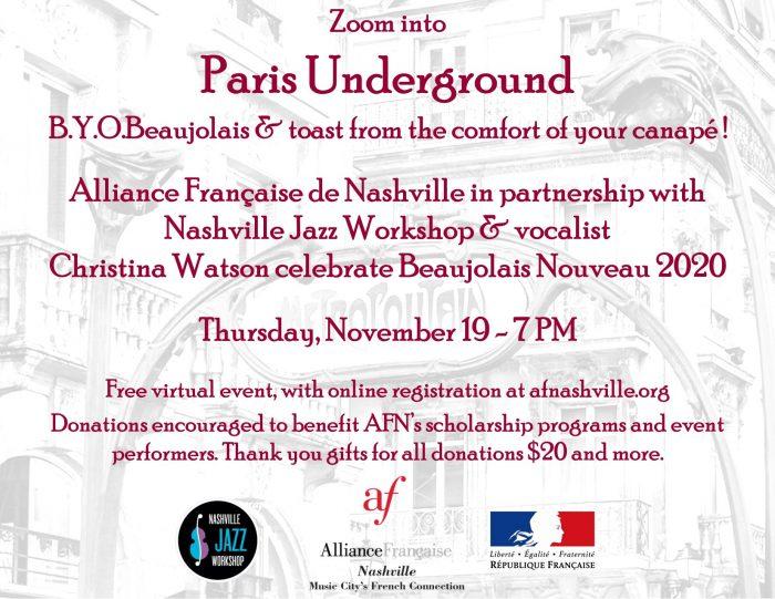 Beaujolais Nouveau Celebration & Fall Fundraiser